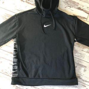 Nike Black Bonded Hooded Pullover w/ Logo on side